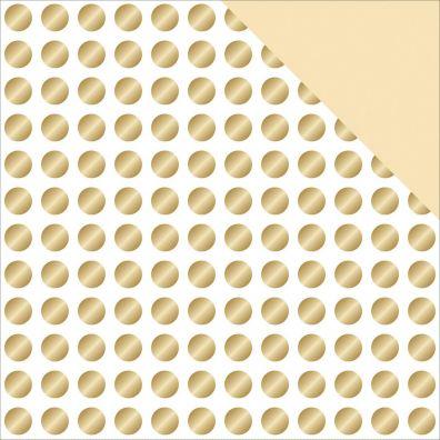 Glam Factor Gold Dots 12x12 Mønsterpapir fra Teresa Collins