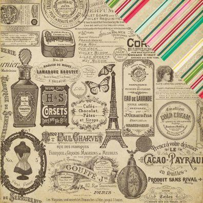 Jack & Jill Vintage Ads Mønsterpapir fra Echo Park