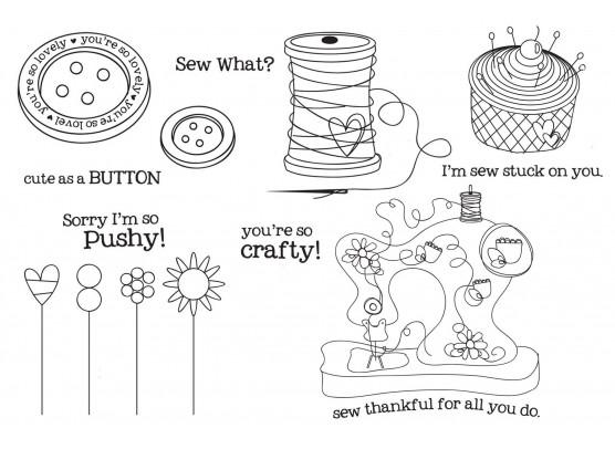 Sew Cute - Stempelsæt fra Unity Stamp Company