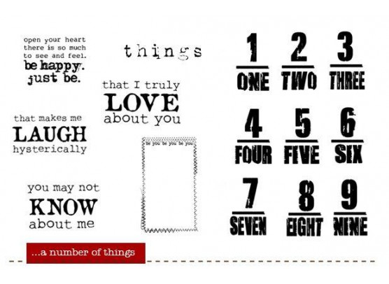 A Number of things - Stempelsæt fra Unity Stamp Company