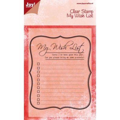 Joy Clear Stamps My Wish List
