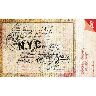 Joy Clear Stamps Print N.Y.C.