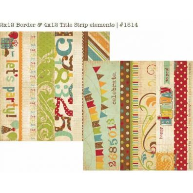 Happy Day title Strip Cards Cardstock 12x12 - Simple