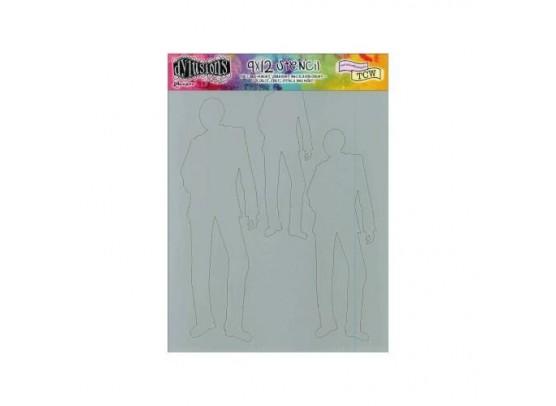 Dylusions 9x12 Stencil - Bert