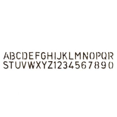 Sizzix Tim Holtz Sizzlits dies - Stenciled Alphabet