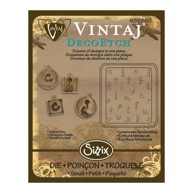 Sizzix Vintaj Deco Etch - Lowercase Handwriting