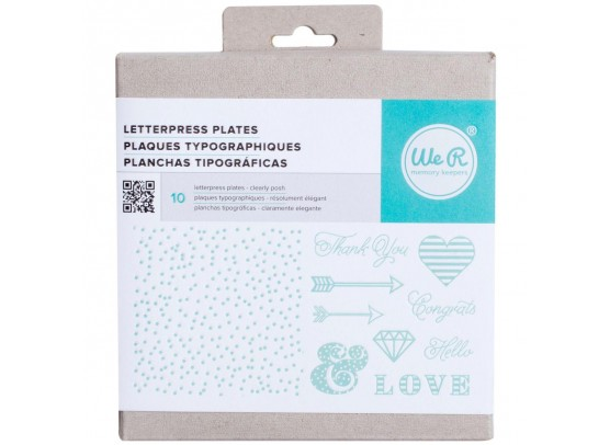 We R memorykeepers Letterpress Plates - Clearly Posh