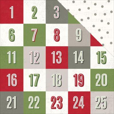 Yuletide - Countdown Mønsterpapir fra Pink Paislee