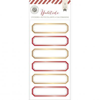 Yuletide - Foil Labels fra Pink Paislee