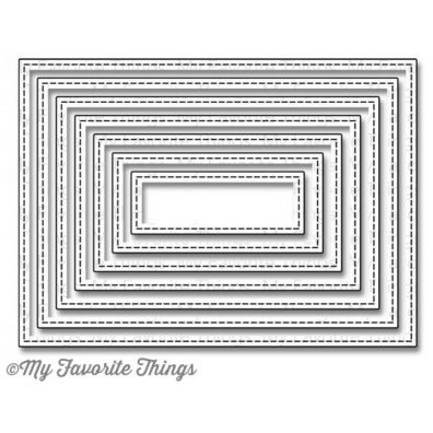 My Favorite Things Dies Stitched Rectangle STAX