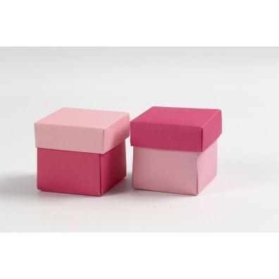 Happy Moment Fold selv æske med låg - Pink