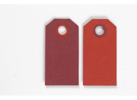 Happy Moment Farvede Manillamærker 6 x 3 cm - Rød