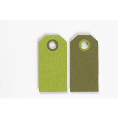 Happy Moment Farvede Manillamærker 6 x 3 cm - Grøn