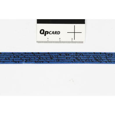 Happy Moment Satinbånd med print - 10 mm x 8 m - blå