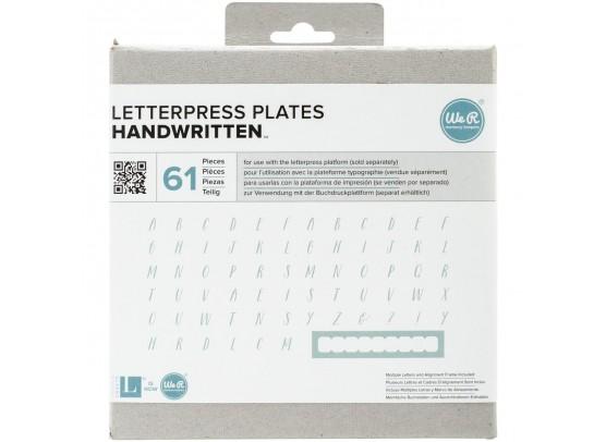 We R memorykeepers Letterpress Plates - Handwritten