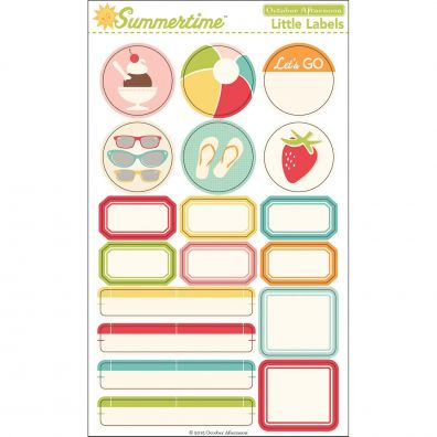 October Afternoon Summertime Little Labels Stickers