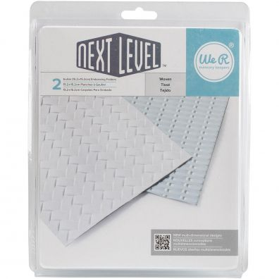 We R memorykeepers Next Level Embossing folders - Woven