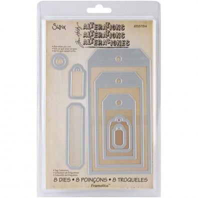 Sizzix Tim Holtz dies - Tag Collection