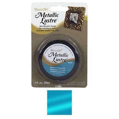 DecoArt Metallic Lustre Wax - Brilliant Turquoise