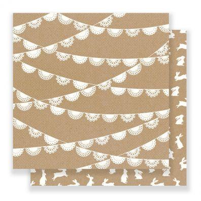 Spring Fling - Doily Mønsterpapir fra Pebbles