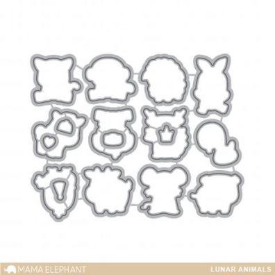 Mama Elephant Creative Cuts - Lunar Animals