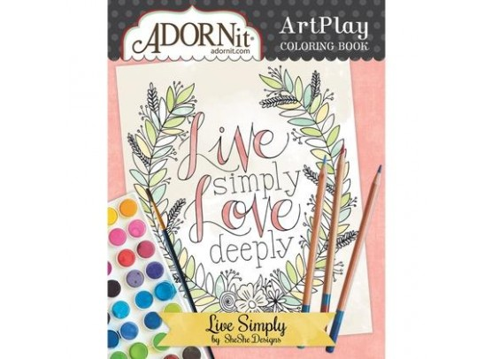 Adorn It Colouring Book - Live Simply