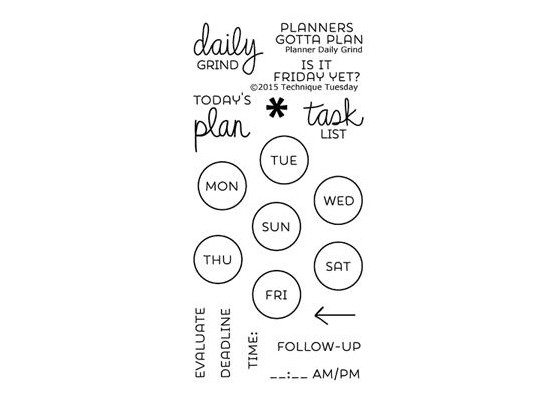 Technique Tuesday Stempler - Planner Daily Grind