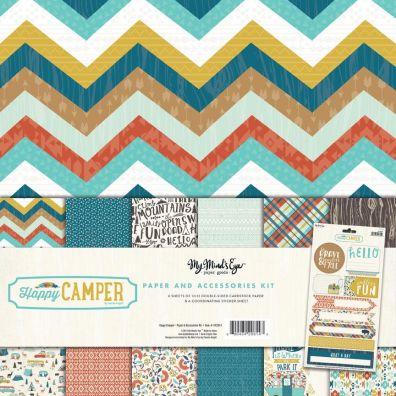 My Minds Eye Happy Camper Collection Kit mønsterpapir