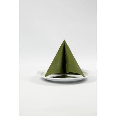 Happy Moment Servietter - 33x33 cm, mørk grøn, 20 stk
