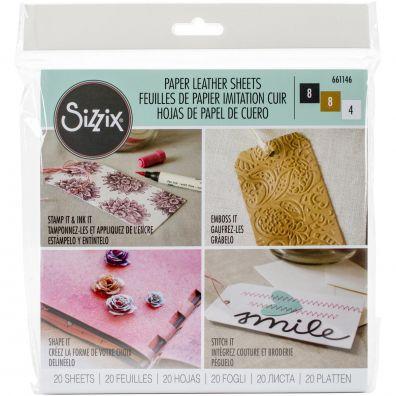 Sizzix Paper Leather Sheets - Basics