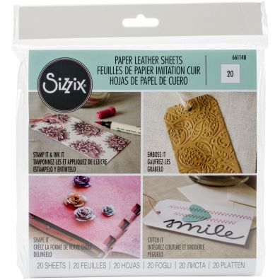 Sizzix Paper Leather Sheets - White
