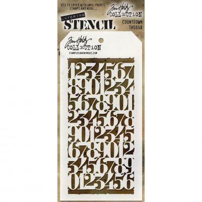 Tim Holtz Stencil/ Mask - Countdown