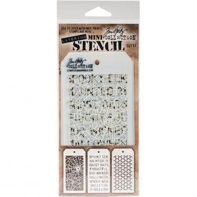 Tim Holtz Mini Stencil Set 17