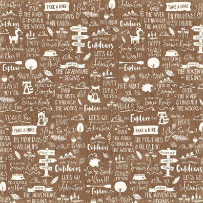 Mushroom Medley - Girolles mønsterpapir fra Jillibean