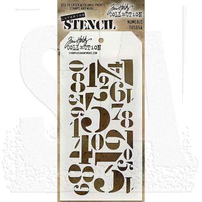 Tim Holtz Stencil/ Mask - Numeric