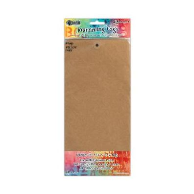 Dylusions Journaling Tags 12 inch - Kraft