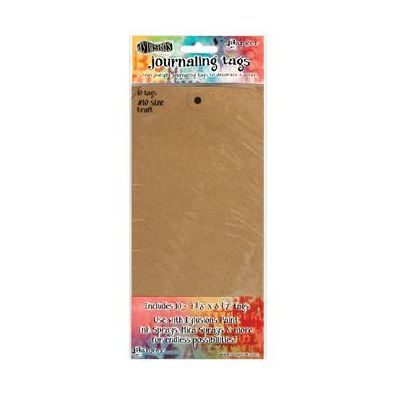 Dylusions Journaling Tags 10 inch - Kraft