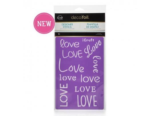 Deco Foil Designer Stencil Love