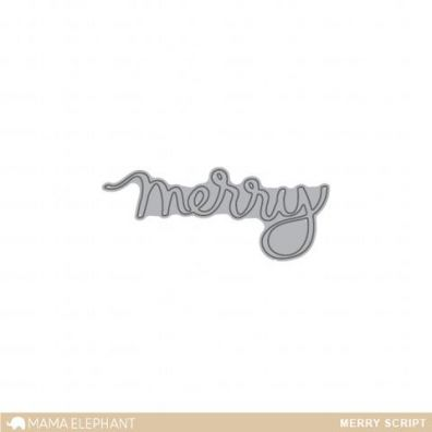 Mama Elephant Creative Cuts - Merry Script