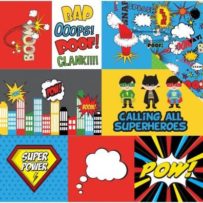 Echo Park Super Hero mønsterpapir - Journal Cards