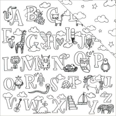 American Crafts Hall Pass mønsterpapir - Alphabet