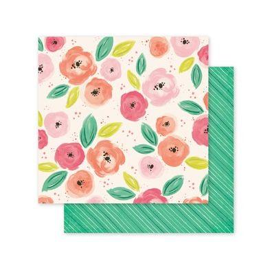 Pink Paislee Fancy That - Paper 07 Mønsterpapir