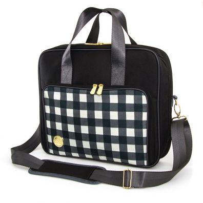 We R Memorykeepers Crafters Shoulder Bag - Black Plaid