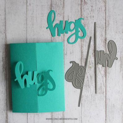 Concord & 9th Hugs Card Dies