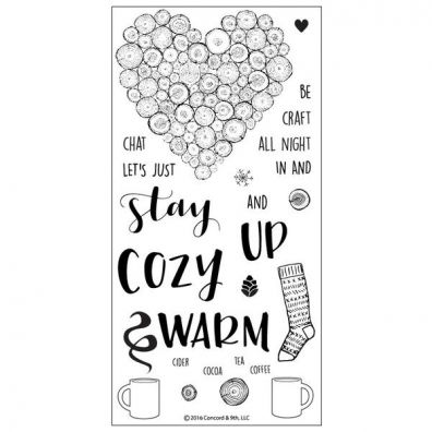 Concord & 9th Cozy up Clear Stamp Set