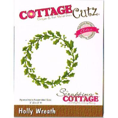 Cottage Cutz dies – Holly Wreath