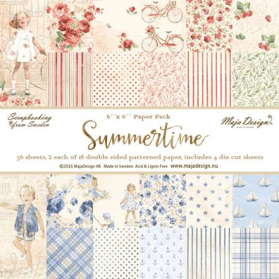 Summertime – 6x6 Paper Pack fra Maja Design