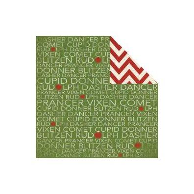 My Minds Eye Sleigh Bells Ring - Reindeer Names Paper