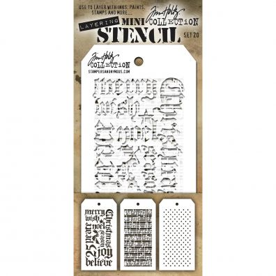 Tim Holtz Mini Stencil Set 20
