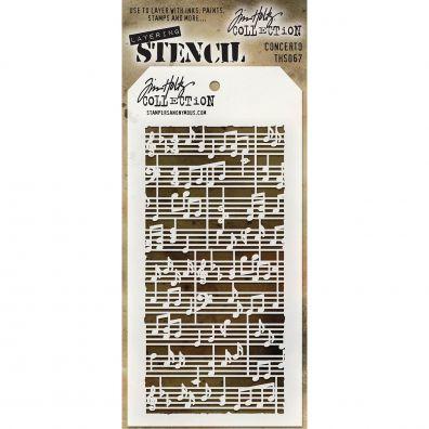 Tim Holtz Stencil/ Mask – Concerto
